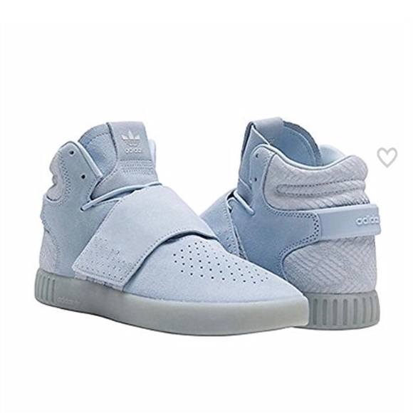 newest bb9f3 80478 adidas Other - Adidas Tubular Invader blue suede hi top shoes 7.5
